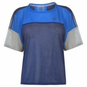 Asics  Style Running T Shirt Ladies  women's T shirt in Blue