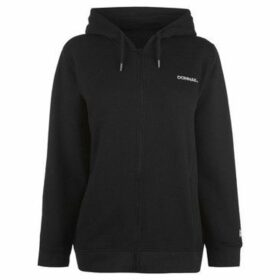 Donnay  Full Zip Hoody Ladies  women's Sweatshirt in Black