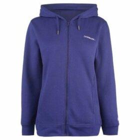 Donnay  Full Zip Hoody Ladies  women's Sweatshirt in Blue