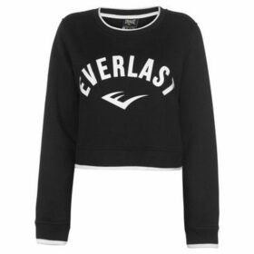 Everlast  Crop Sweatshirt Ladies  women's Sweatshirt in Black