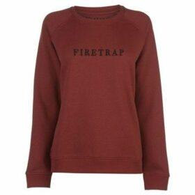 Firetrap  Luxe Crew Sweatshirt Ladies  women's Sweatshirt in Red