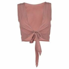 Firetrap  Blackseal Bow Tie Back Top  women's Blouse in Pink