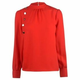 Full Circle  Button Blouse Ladies  women's Blouse in Red