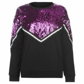 Golddigga  Sequin Sweatshirt Ladies  women's Sweatshirt in Black