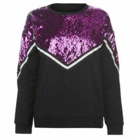 Golddigga  Sequin Sweatshirt Ladies  women's Sweatshirt in Black