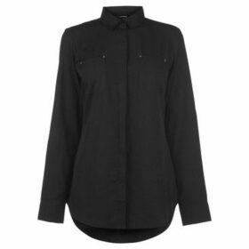 Golddigga  Long Sleeve Shirt Ladies  women's Shirt in Black