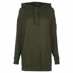 Golddigga  Long Soft Fleece Hoodie Ladies  women's Sweatshirt in Green