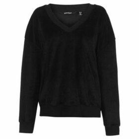 Golddigga  Velour Sweater Ladies  women's Sweater in Black