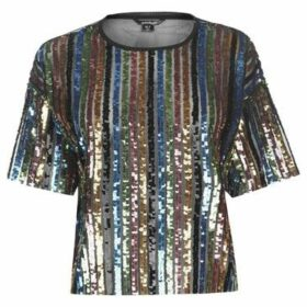 Golddigga  Sequin Top Ladies  women's Blouse in Multicolour