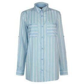 Kangol  Long Sleeve Shirt Ladies  women's Shirt in Blue