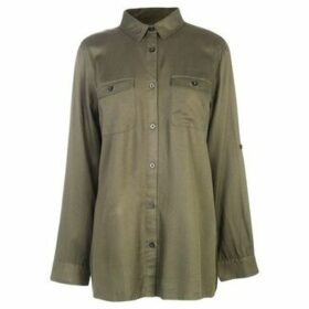 Kangol  Military Long Sleeve Shirt Ladies  women's Shirt in Green