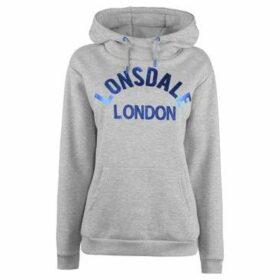 Lonsdale  OTH Hoodie Ladies  women's Sweatshirt in Grey