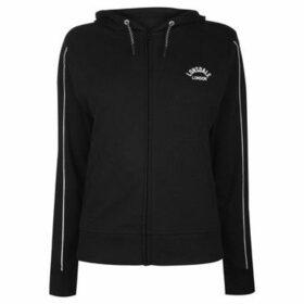 Lonsdale  Interlock Hoodie Ladies  women's Sweatshirt in Black