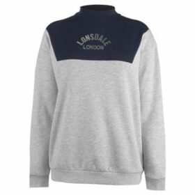 Lonsdale  Crew Neck Jumper Ladies  women's Sweatshirt in Grey