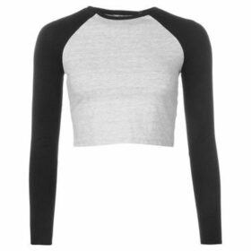 Miso  Long Sleeve Crop Top Ladies  women's Blouse in Multicolour