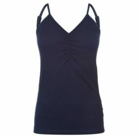 Miso  Hidden Support Tank Top Ladies  women's Blouse in Blue
