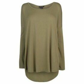 Miso  Long Length Tee Ladies  women's Blouse in Green
