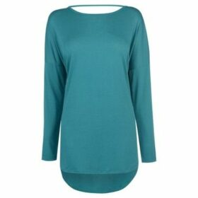 Miso  Low Back Tee Ladies  women's Blouse in Blue