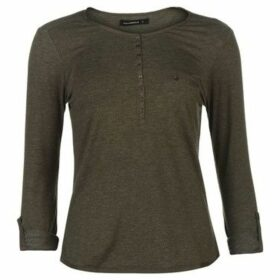 Miso  Button Placket Top Ladies  women's Blouse in Green