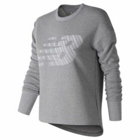 New Balance  Fleece Crew Sweatshirt Ladies  women's Sweatshirt in Grey