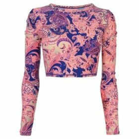 O'neill  Long Sleeve Crop Top Ladies  women's Blouse in Pink