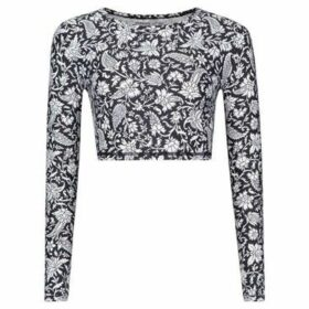 O'neill  Long Sleeve Crop Top Ladies  women's Blouse in Multicolour