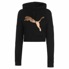 Puma  Crop Hoodie Ladies  women's Sweatshirt in Black