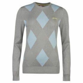 Slazenger  Argyle Golf Jumper Ladies  women's Sweater in Multicolour