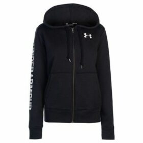 Under Armour  Logo Fleece Zip Hoodie Ladies  women's Sweatshirt in Black