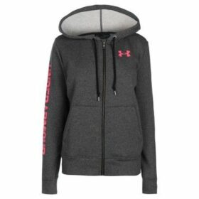 Under Armour  Logo Fleece Zip Hoodie Ladies  women's Sweatshirt in Grey