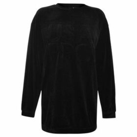 Usa Pro  Velvet Crew Sweatshirt  women's Sweatshirt in Black
