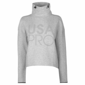 Usa Pro  Pro Funnel Neck Sweatshirt Ladies  women's Sweatshirt in Grey