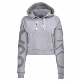 Usa Pro  Crop Hoodie Ladies  women's Sweatshirt in Grey