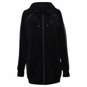 Usa Pro  Velvet Full Zip Hoodie  women's Sweatshirt in Black