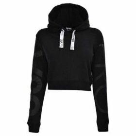 Usa Pro  Crop Hoodie Ladies  women's Sweatshirt in Black
