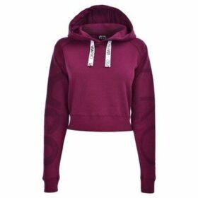 Usa Pro  Crop Hoodie Ladies  women's Sweatshirt in Purple