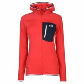 Millet  Tril Grid Hoodie Ladies  women's Fleece jacket in Red