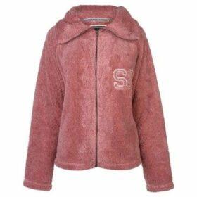 Soulcal  Snug Zip Top Ladies  women's Fleece jacket in Pink