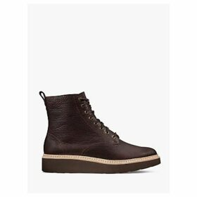 Clarks Trace Pine Leather Lace Up Ankle Boots