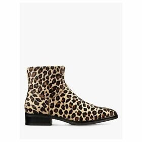 Clarks Pure Rosa Leather Ankle Boots, Leopard Print