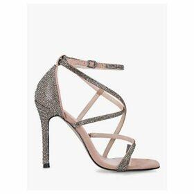 Carvela Ginger Embellished Stiletto Heel Sandals, Brown Camel