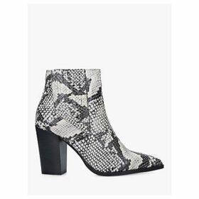 Carvela Sizzle Snake Block Heel Ankle Boots