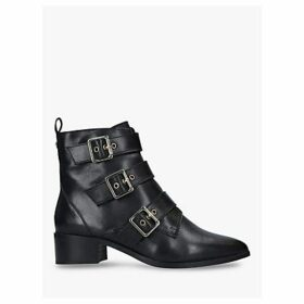 Carvela Toy Buckle Leather Ankle Boots, Black