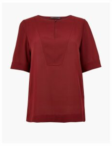 M&S Collection Button Detailed Shell Top