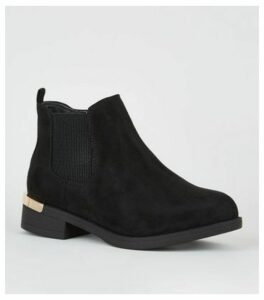 Extra Wide Fit Black Suedette Chelsea Boots New Look