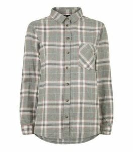 Petite Light Grey Check Shirt New Look