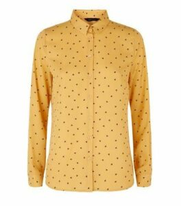Orange Butterfly Long Sleeve Shirt New Look