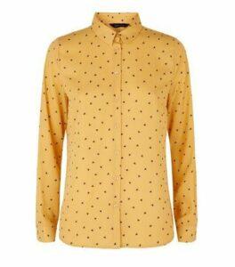 Orange Butterfly Long Sleeve Shirt New Look