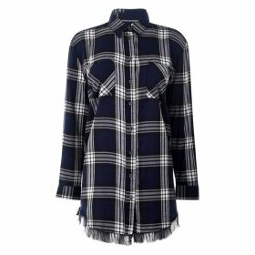 Only Louise Check Shirt - Sky