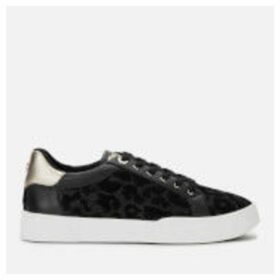 Dune Women's Ellenie S Leopard Print Low Top Trainers - Black - UK 8 - Black